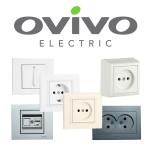 Розетки и выключатели Ovivo